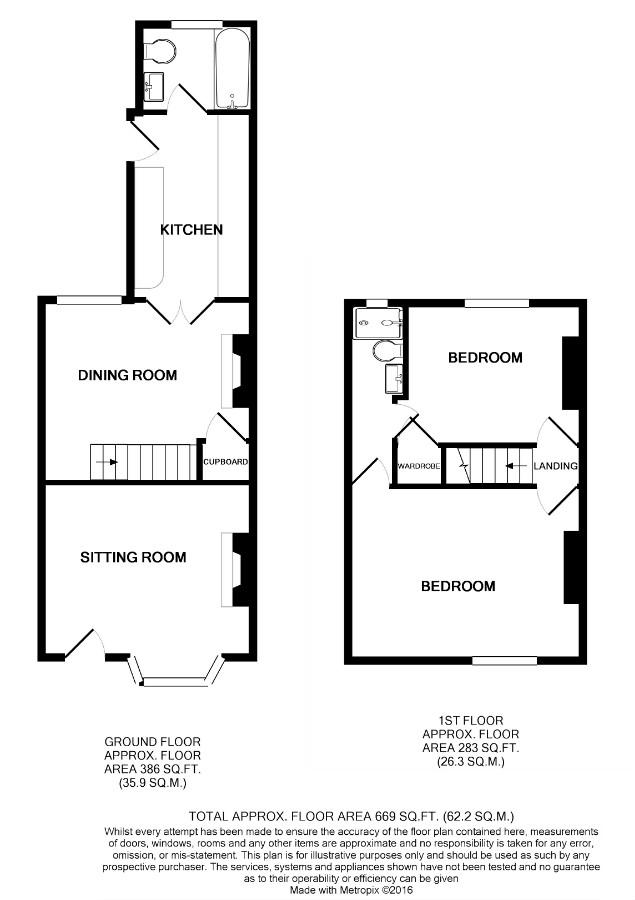 Laburnum Road Chertsey Kt16 2 Bedroom Terraced House For Sale 42569539 Primelocation