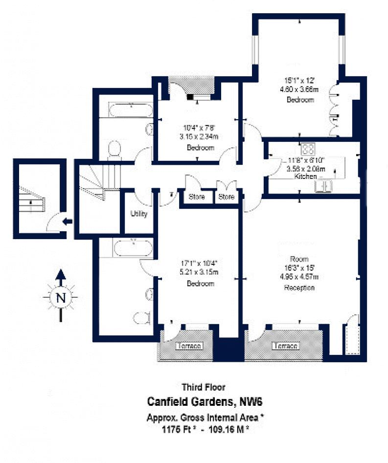 Canfield Gardens London Nw6 3 Bedroom Flat To Rent