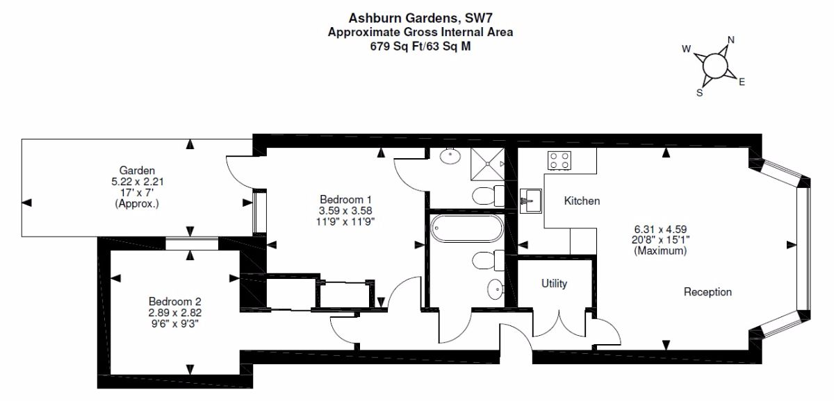 Ashburn Gardens South Kensington London Sw7 2 Bedroom