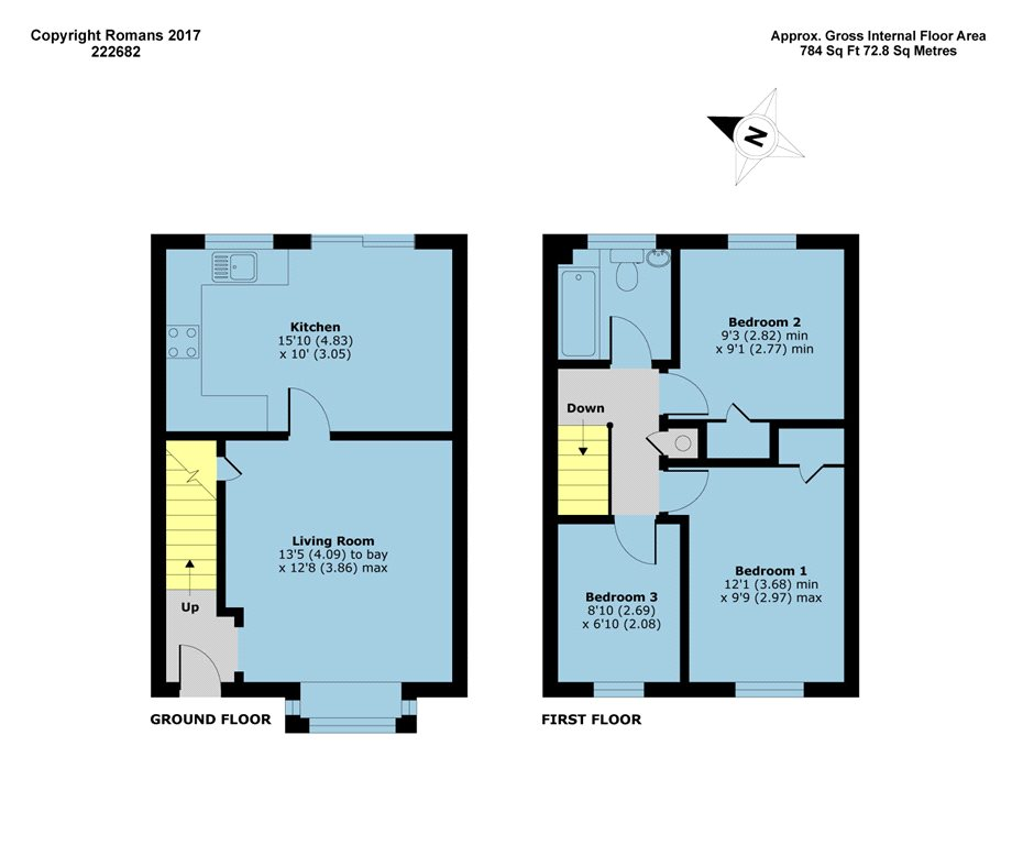 Coe spur cippenham slough sl1 3 bedroom terraced house for Cabover house plans