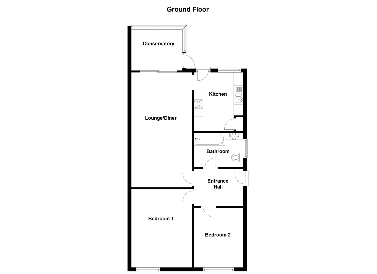 Marlborough way ashby de la zouch le65 2 bedroom for Marlborough house floor plan