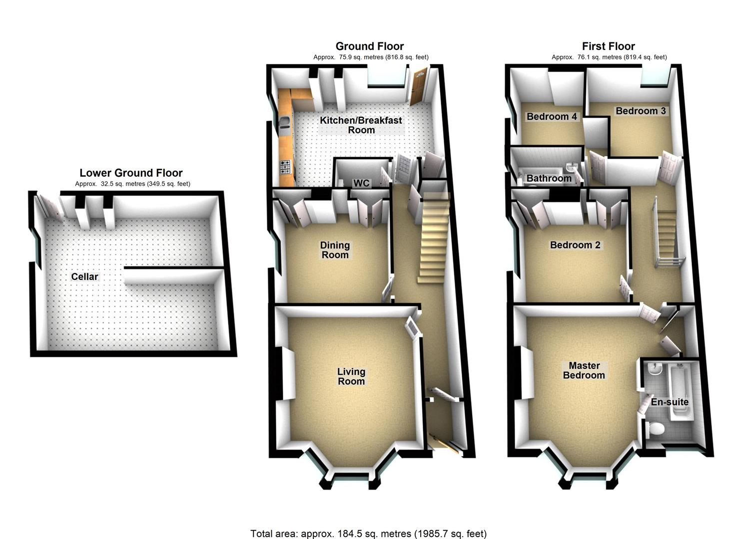 4 bed end terrace house for sale in cecil avenue plymouth for 15 st judes terrace dural