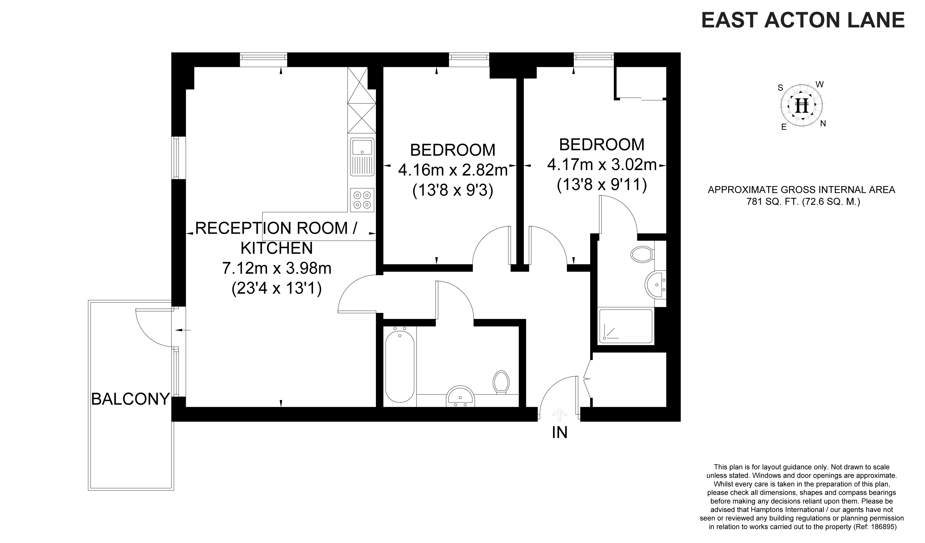 2 Bed Flat To Rent In East Acton Lane London W3