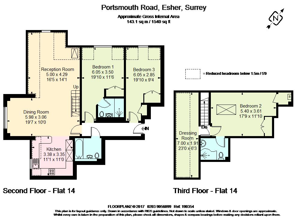 Portsmouth Road Esher Kt10 3 Bedroom Flat To Rent