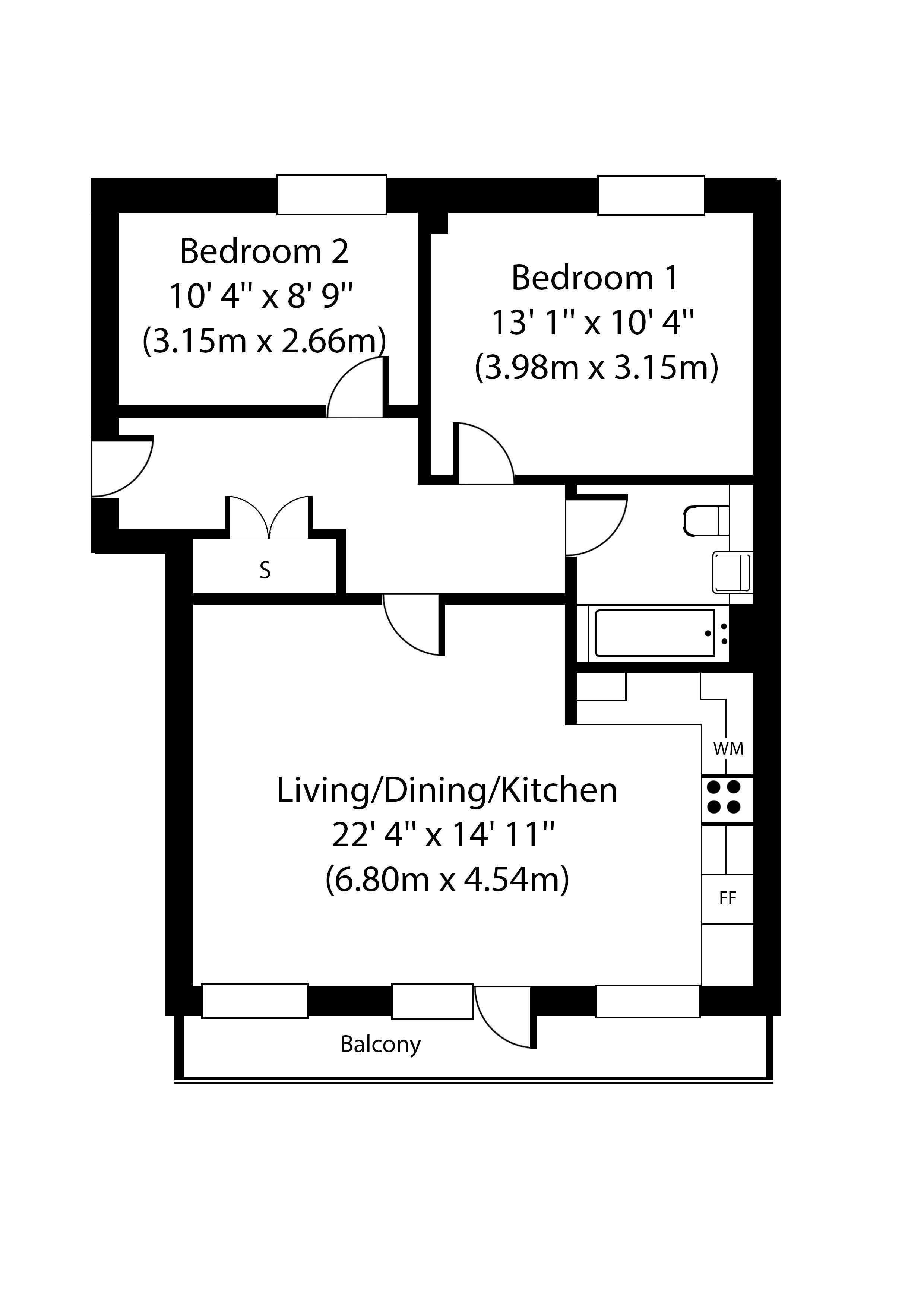 2 Bedroom Flat For Sale In West Green Road N15 London