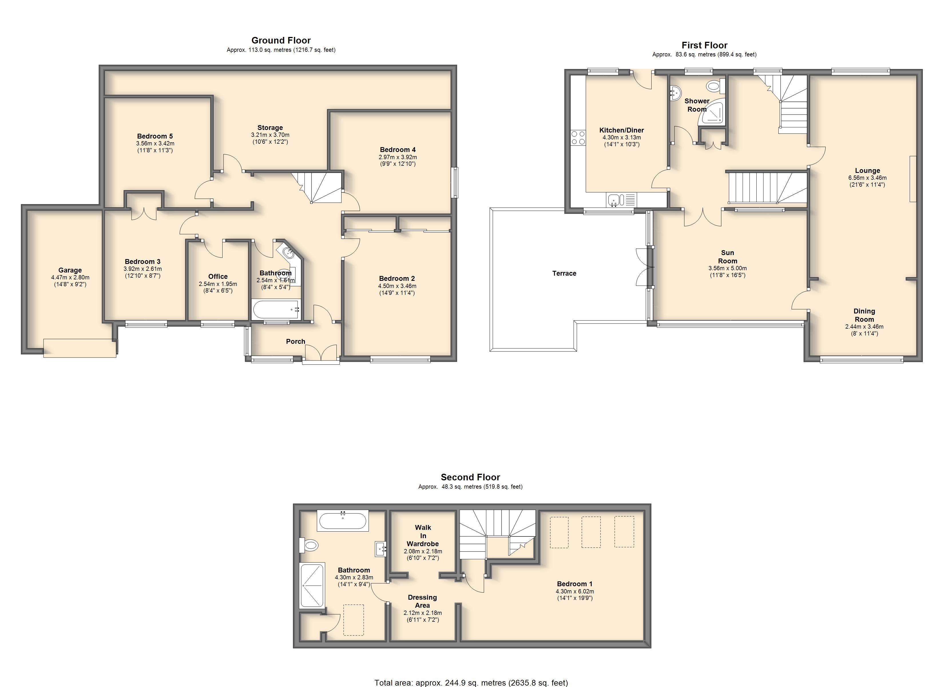 Osborne road sheffield s11 5 bedroom detached house for for Sheffield floor plan
