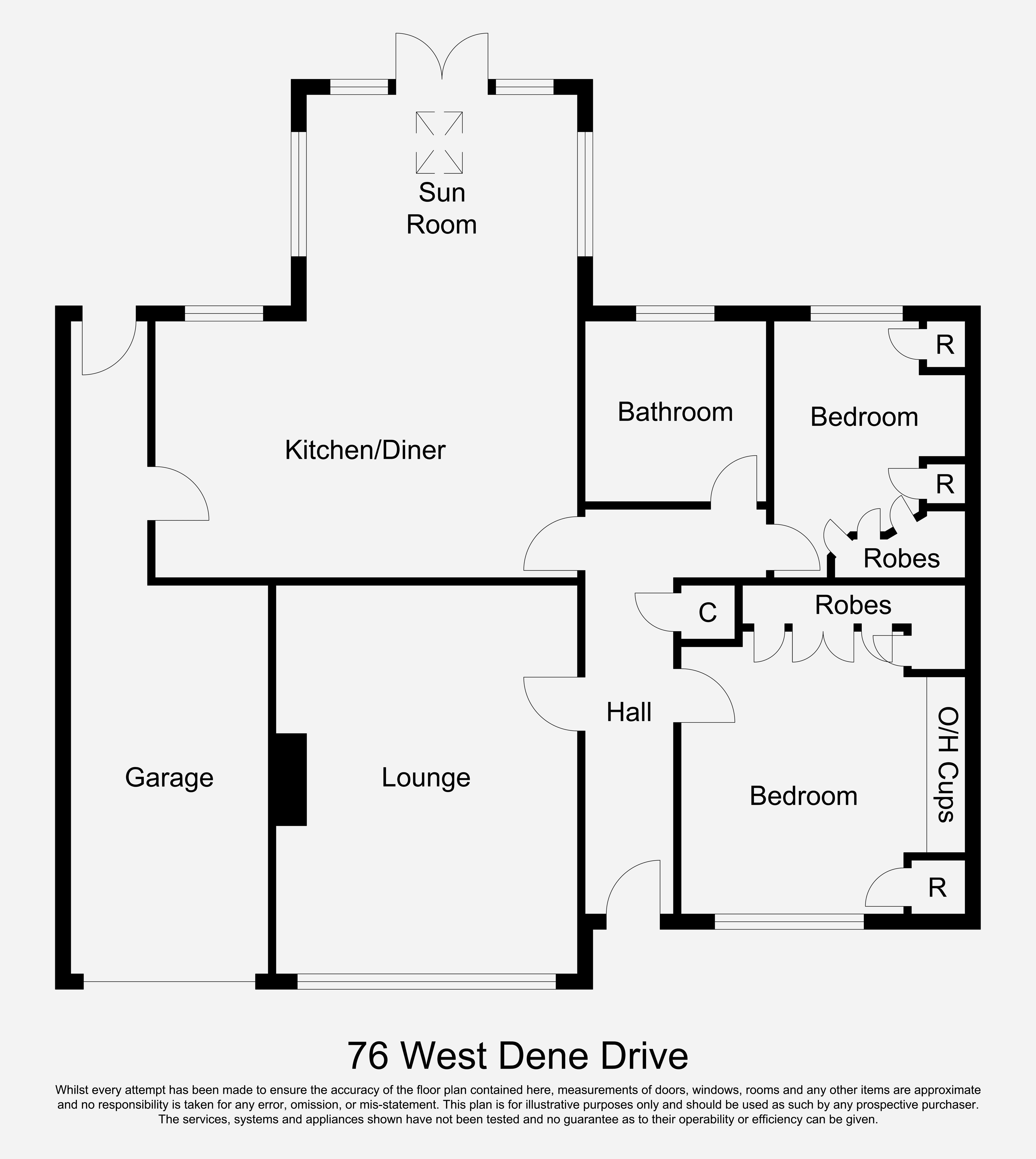West dene drive north shields ne30 2 bedroom bungalow for Front door north tyneside