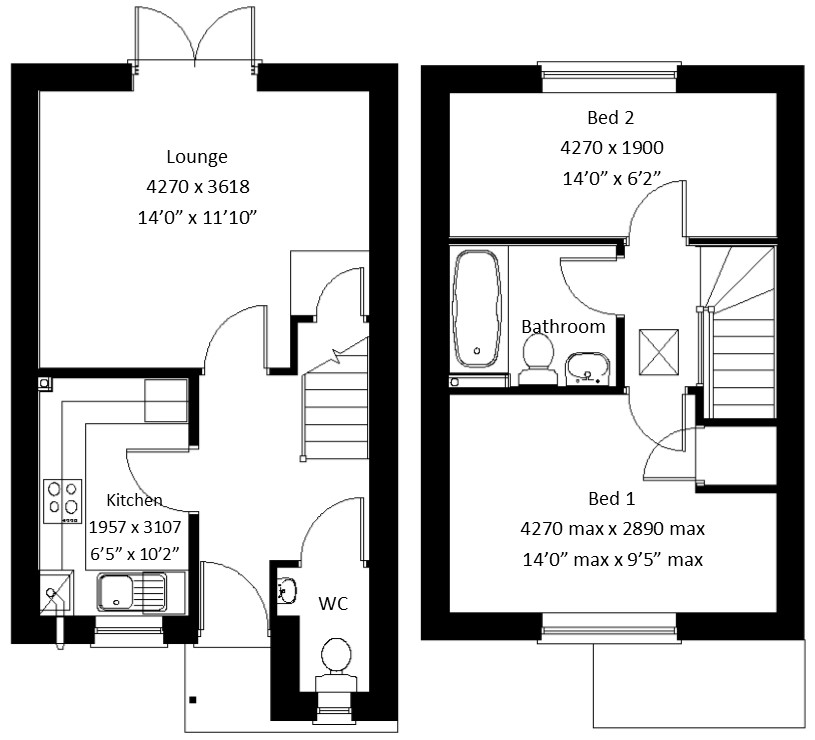 u00a3184 950  2 bedroom mews house for sale in off melton road