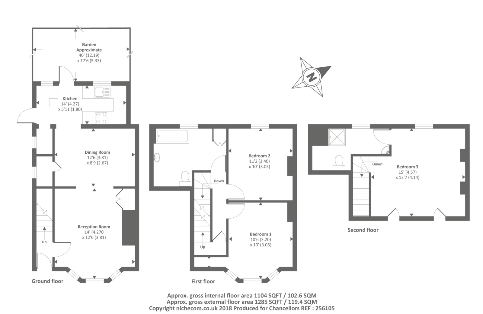 Leys place oxford ox4 3 bedroom terraced house for sale for Oxford floor plan