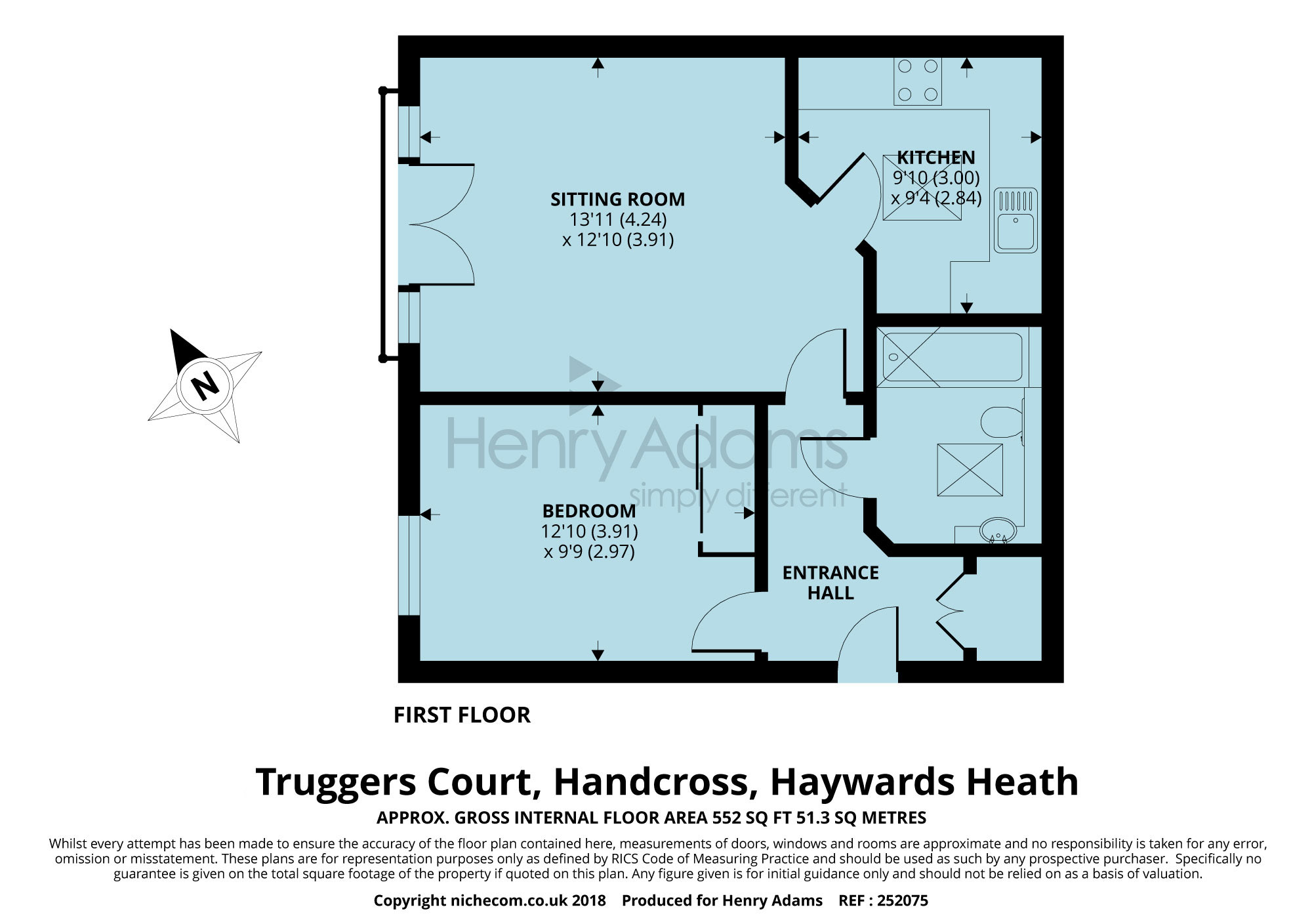 1 bed flat for sale in Truggers Court, Handcross, Haywards Heath ...