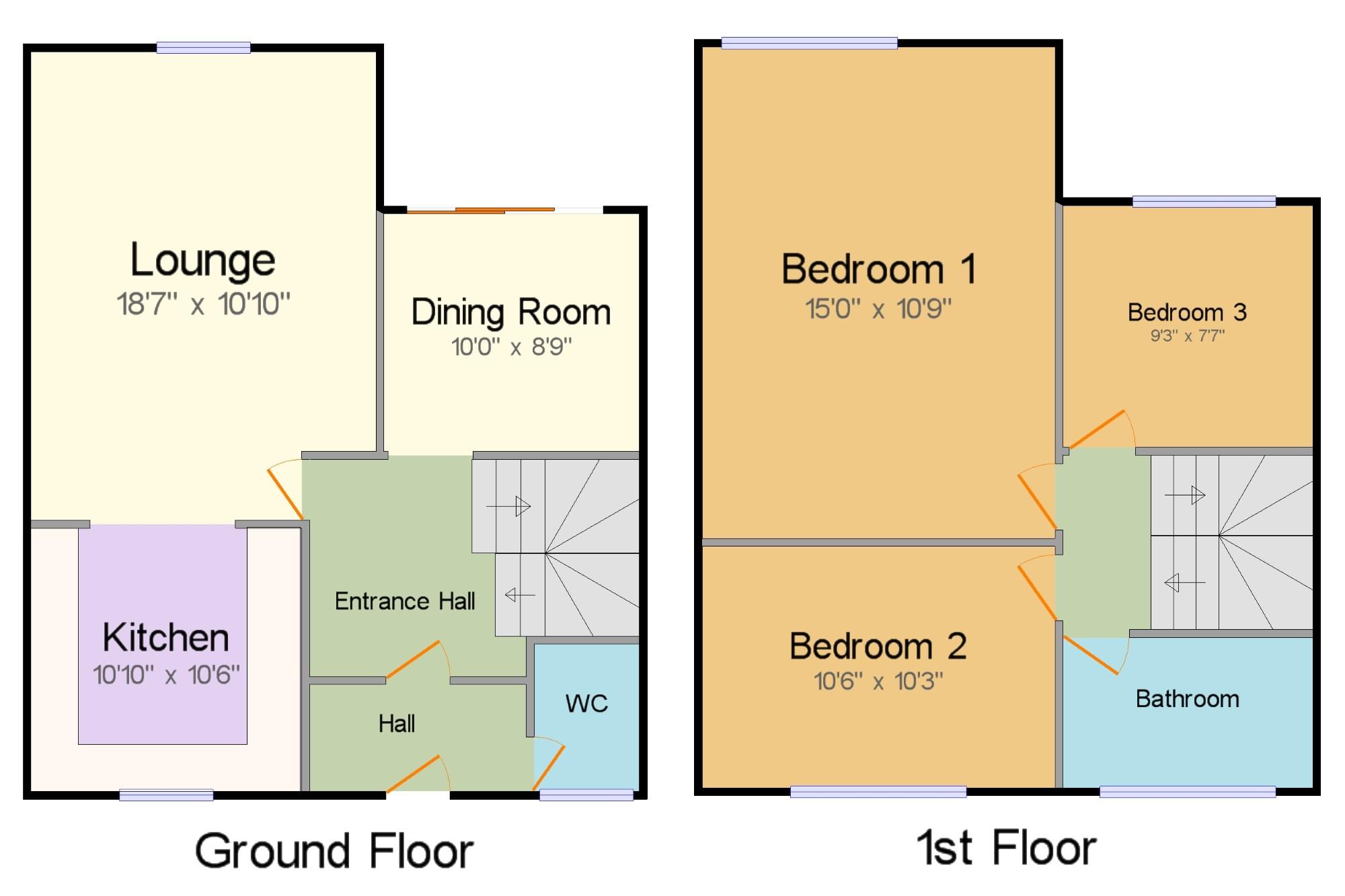 Salesbury Drive Billericay CM11 3 Bedroom Terraced House