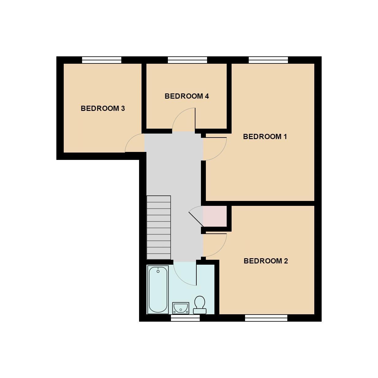 Cuckfield Close Crawley Rh11 4 Bedroom Terraced House