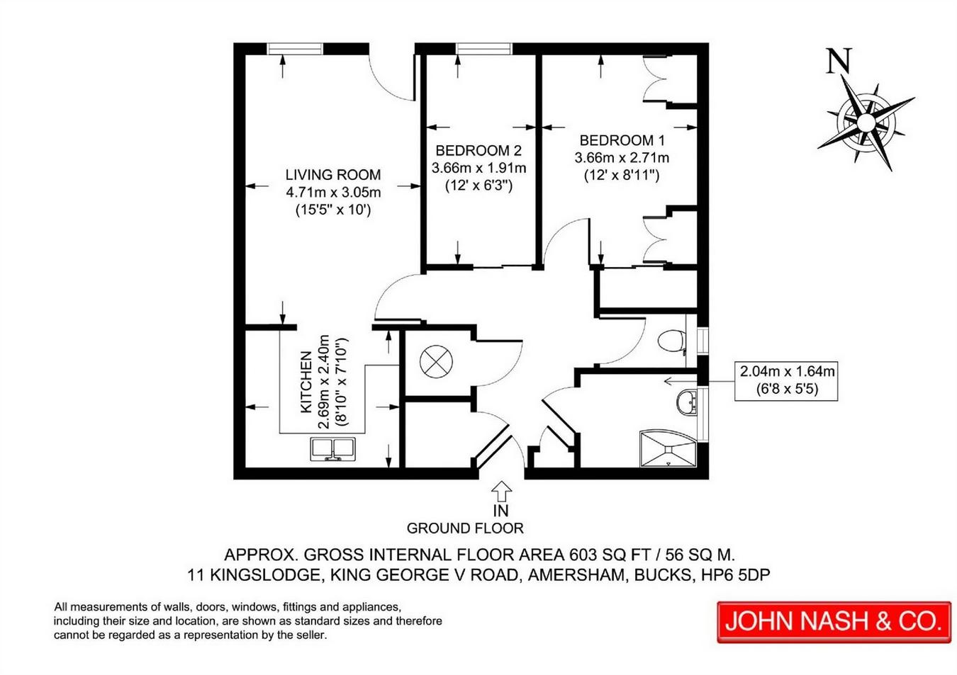 2 Bed Property For Sale In King George V Road Amersham