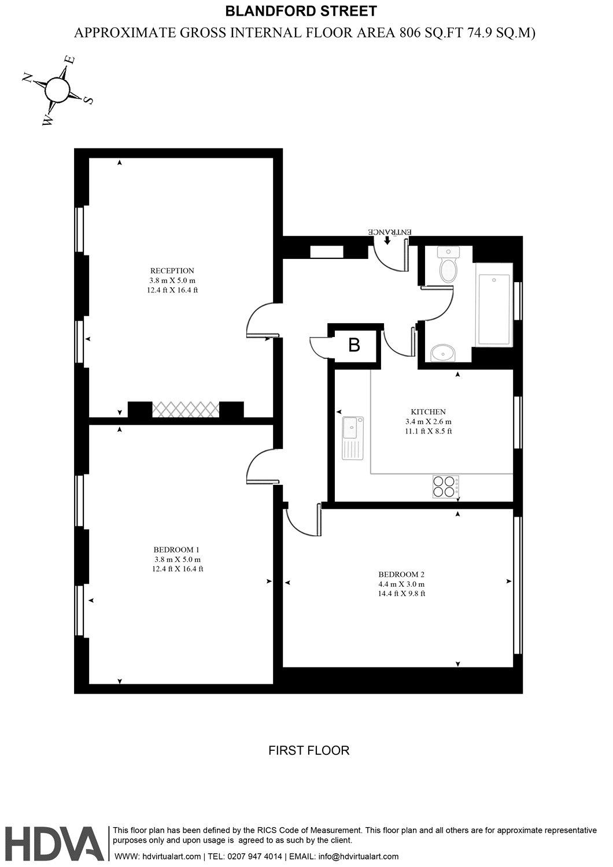 Admiral court 45 blandford street london w1u 2 bedroom for Blandford homes floor plans