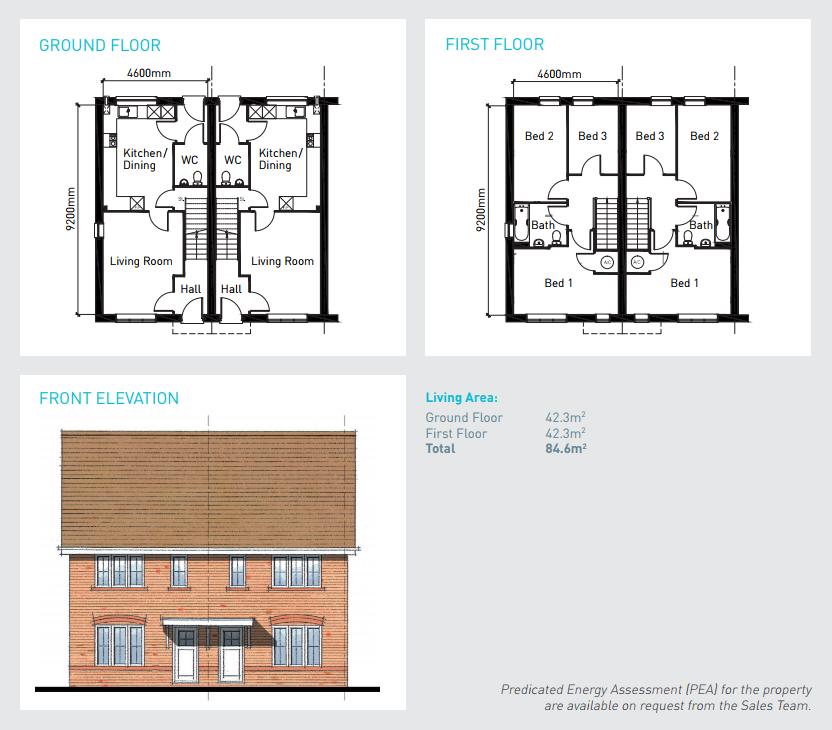 £91,500, 3 Bedroom Terraced House For Sale In Southfields