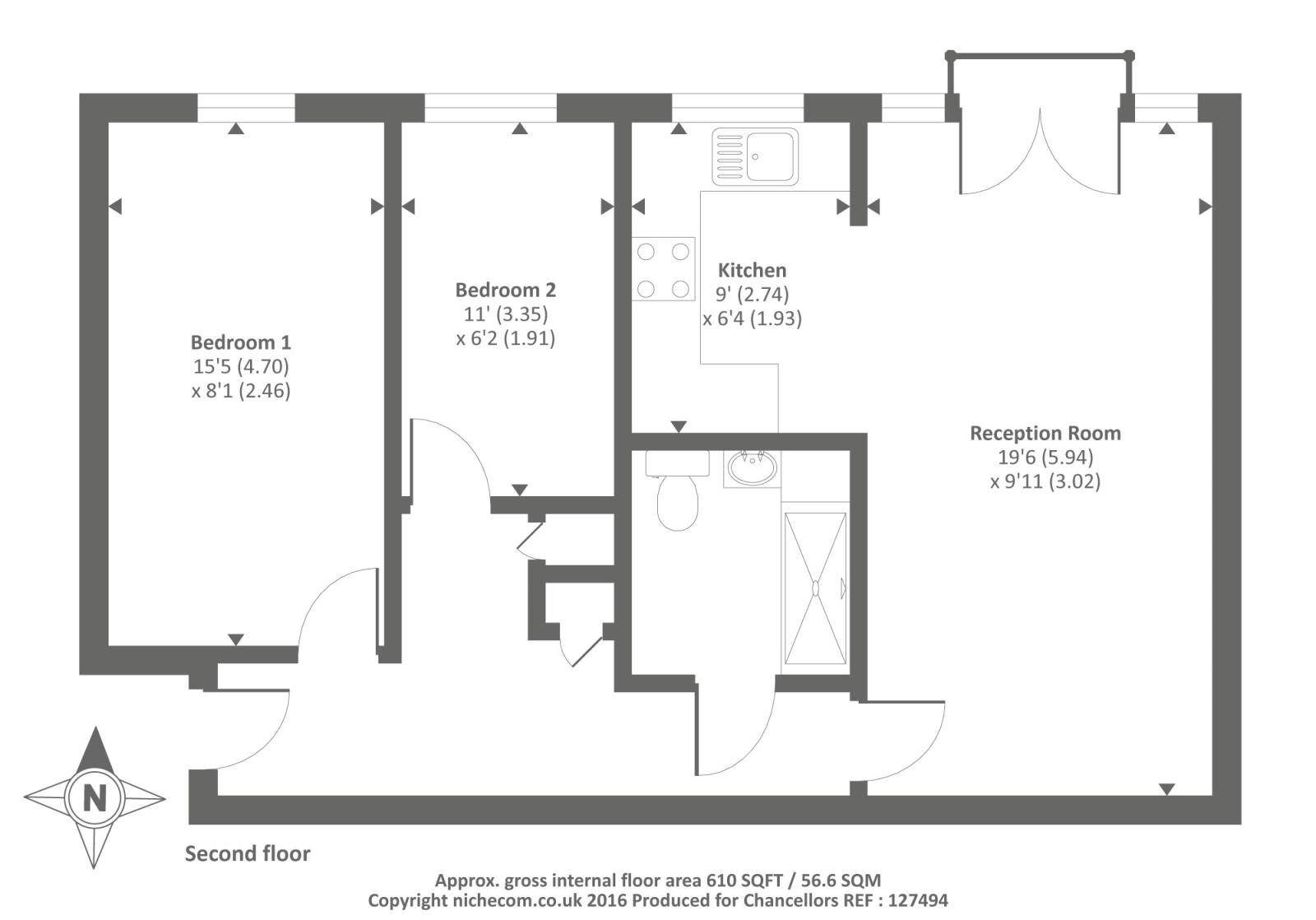 Little field sandy lane west oxford ox4 2 bedroom flat for 16 brookers lane floor plans