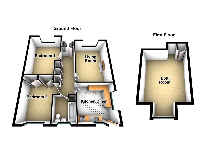 2 Bedroom Detached Bungalow For Sale 45041533