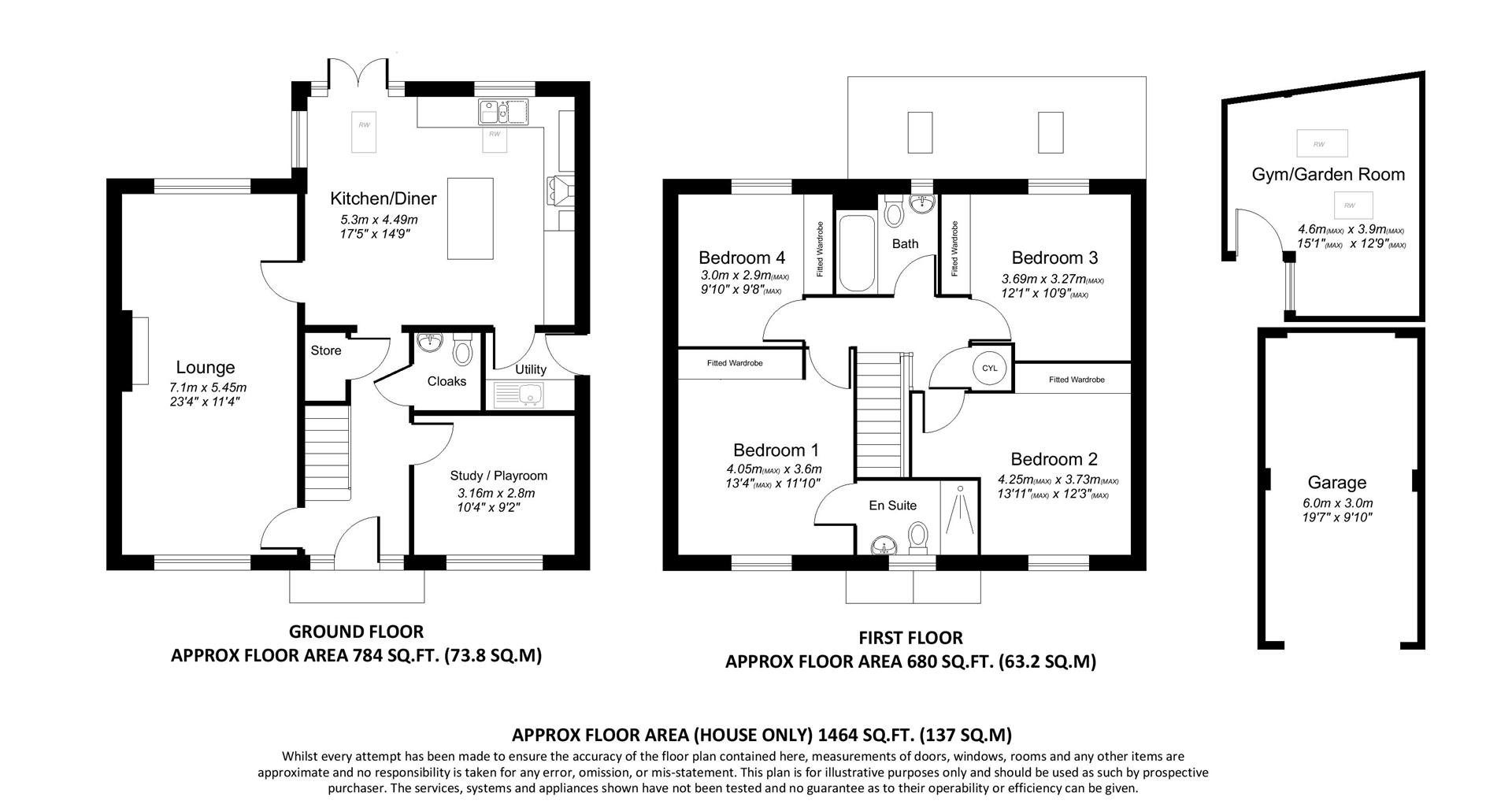 4 Bed Detached House For Sale In Wood Close Ruddington Nottingham Natwest Wiring Instructions Floorplan 1