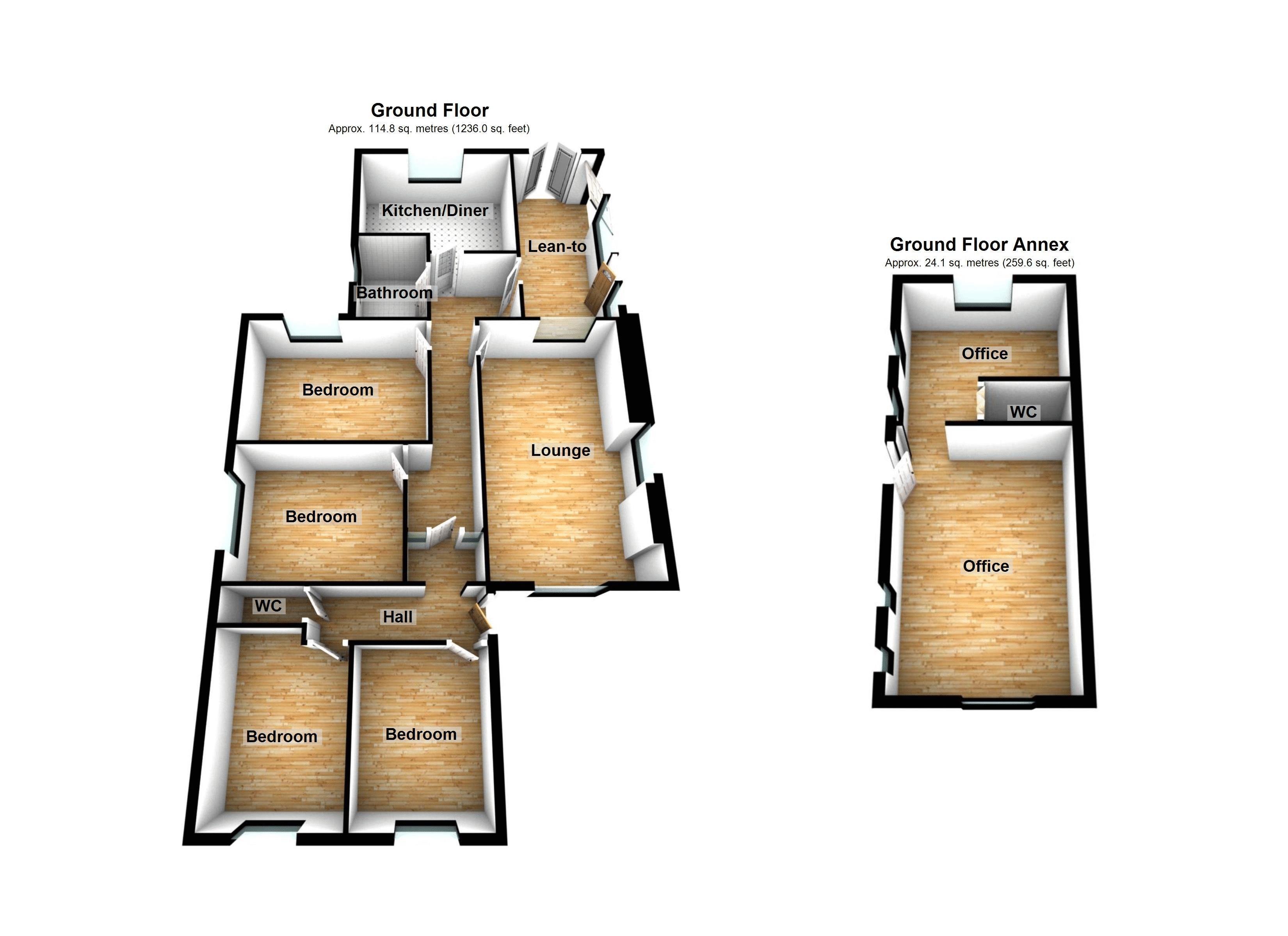 Pen Yr Heol Pen Y Fai Bridgend Cf31 4 Bedroom Detached Bungalow