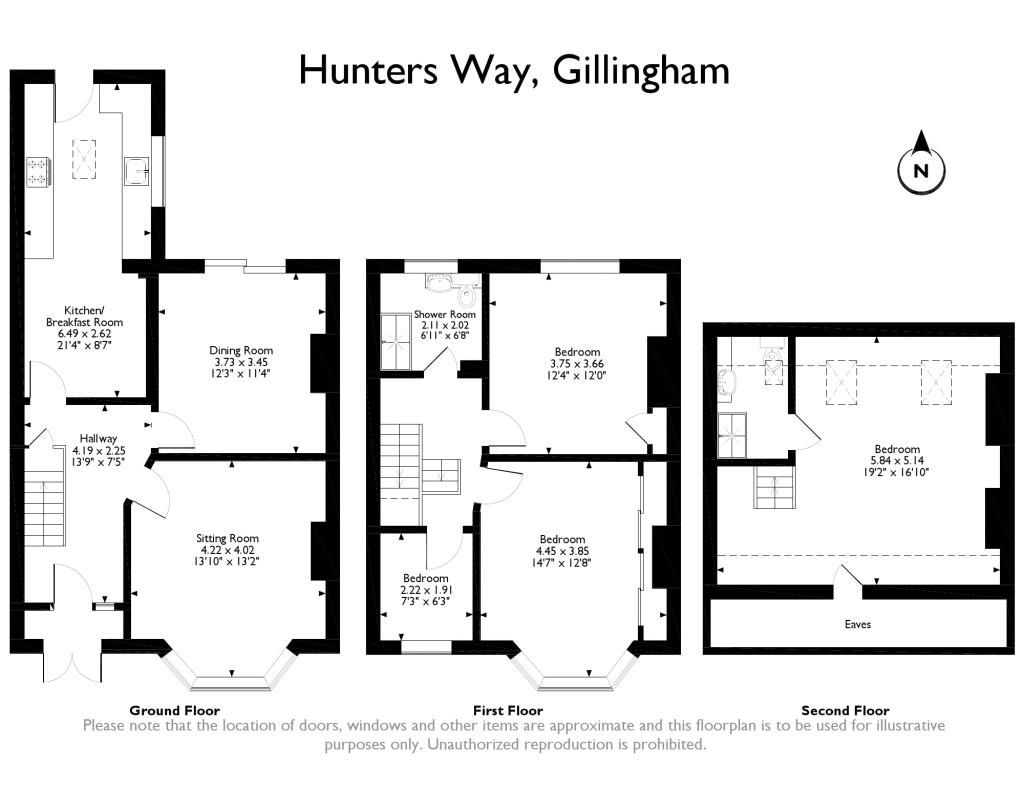 64 hunters way  gillingham  medway me7  3 bedroom terraced