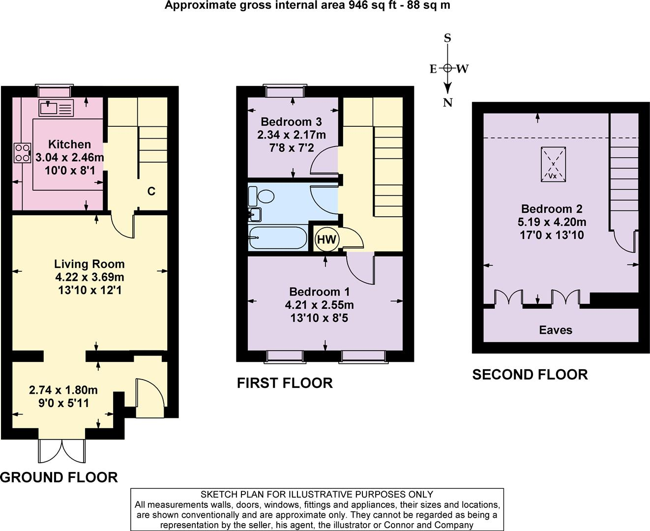3 bed terraced house for sale in upper rissington for 11 brunel court floor plans