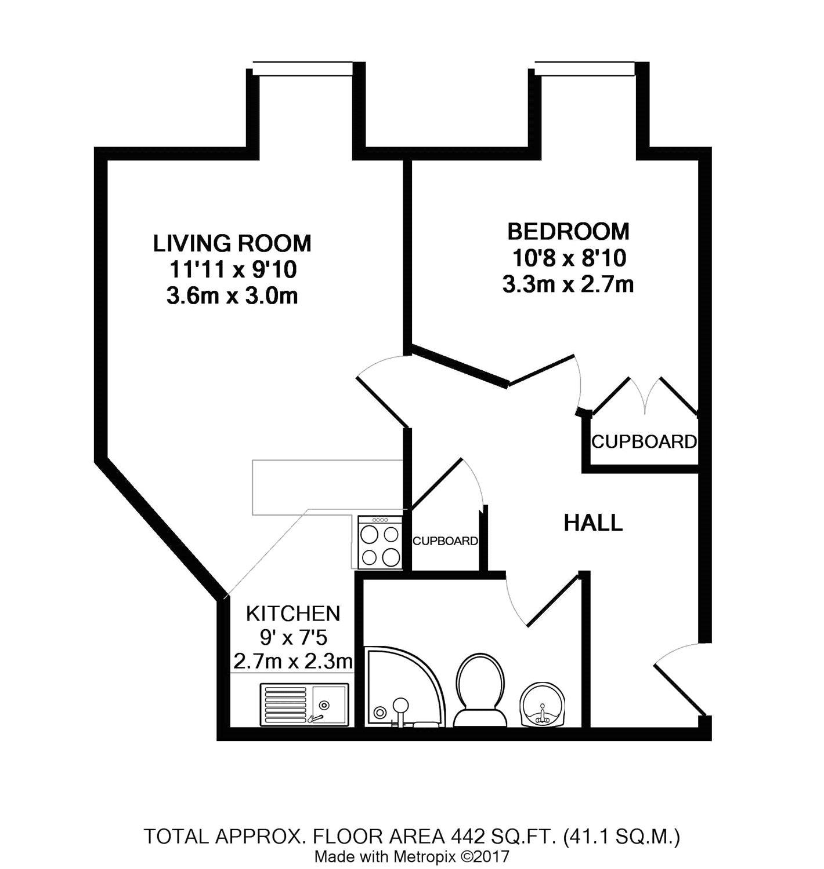 1 bed flat for sale in St. Floras Road, Littlehampton, West Sussex ...