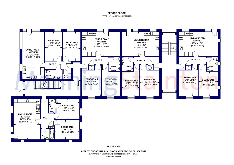 Plot 14, Hillcrest Residence, Gildersome LS27, 2 bedroom