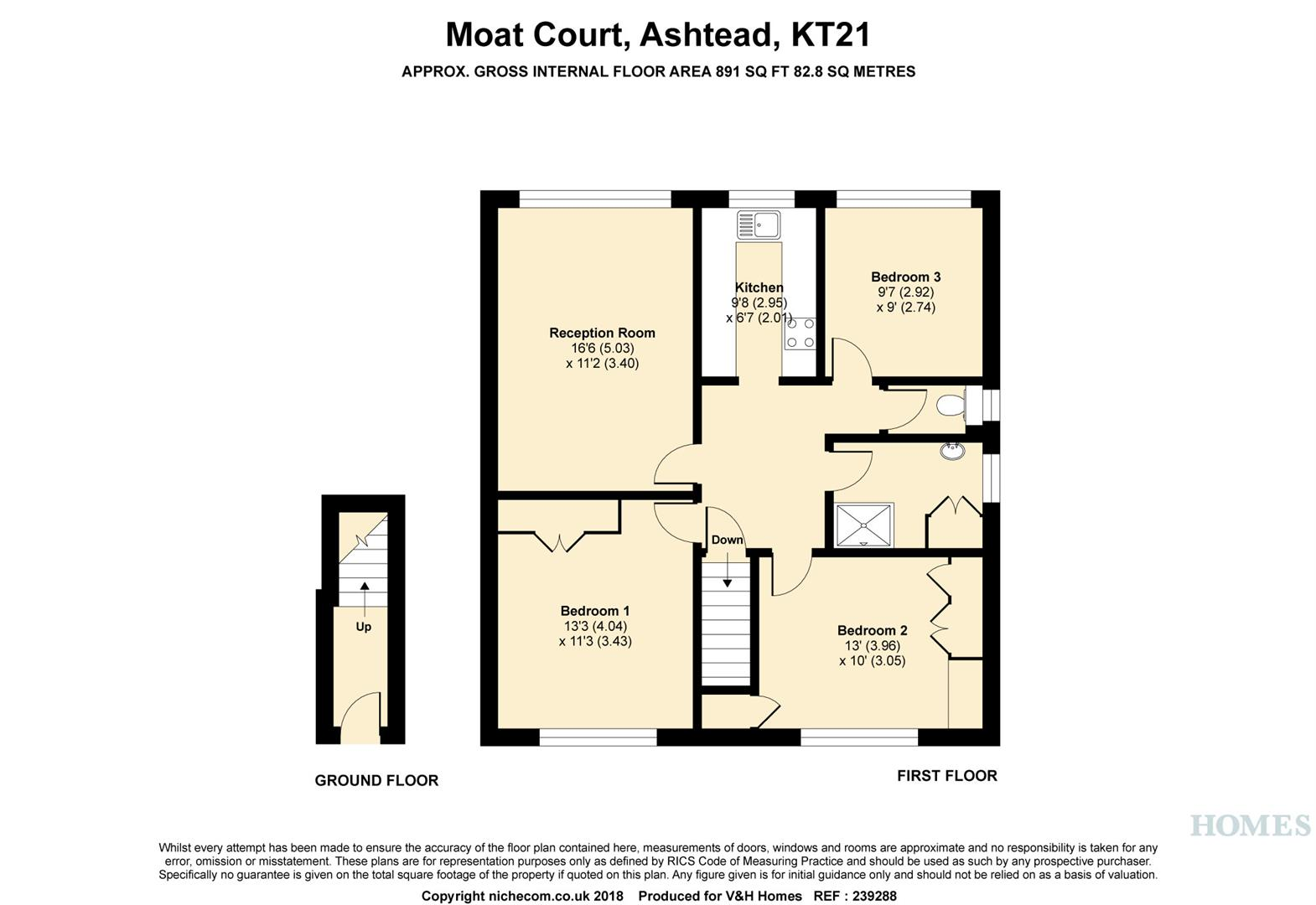 3 Bed Maisonette For Sale In Moat Court Ashtead Kt21 Zoopla