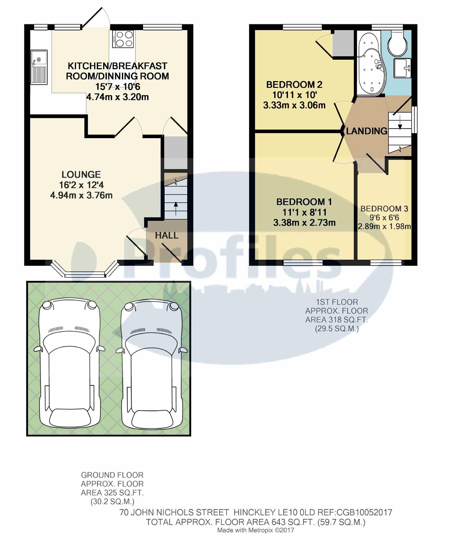 3 bed semi detached house for sale in john nichols street