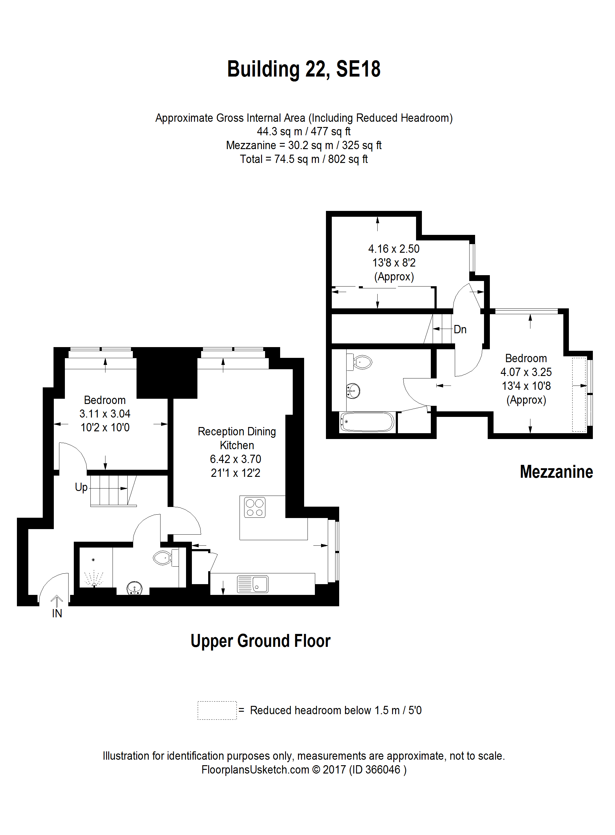 Cadogan road royal arsenal riverside se18 3 bedroom for Up down duplex floor plans