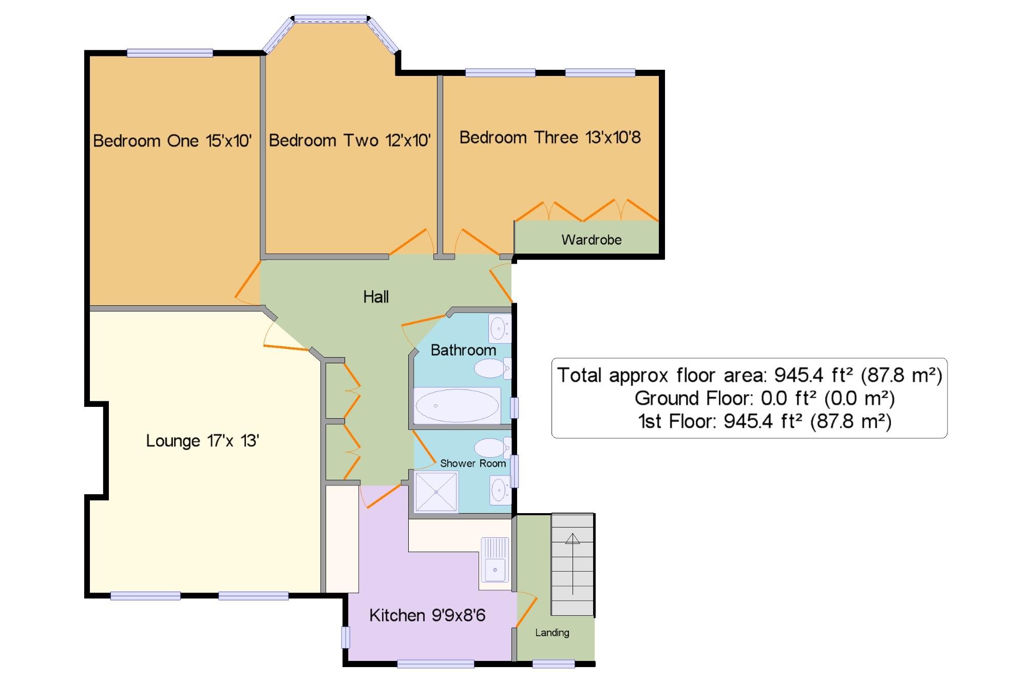 3 bedroom flat for sale in bramford court high street for 125 court street floor plans