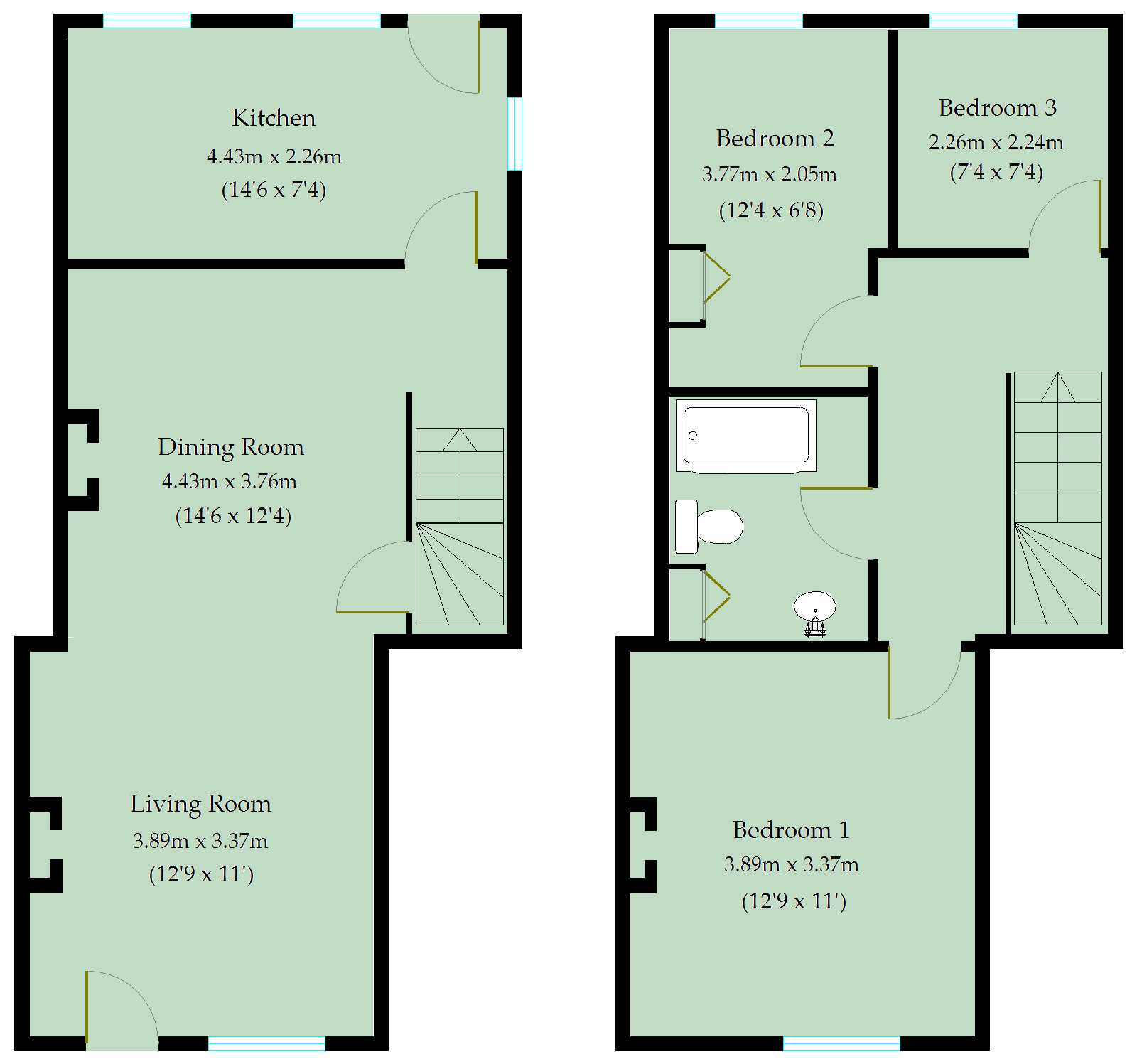 Tidcombe Lane Tiverton Ex16 3 Bedroom Terraced House For