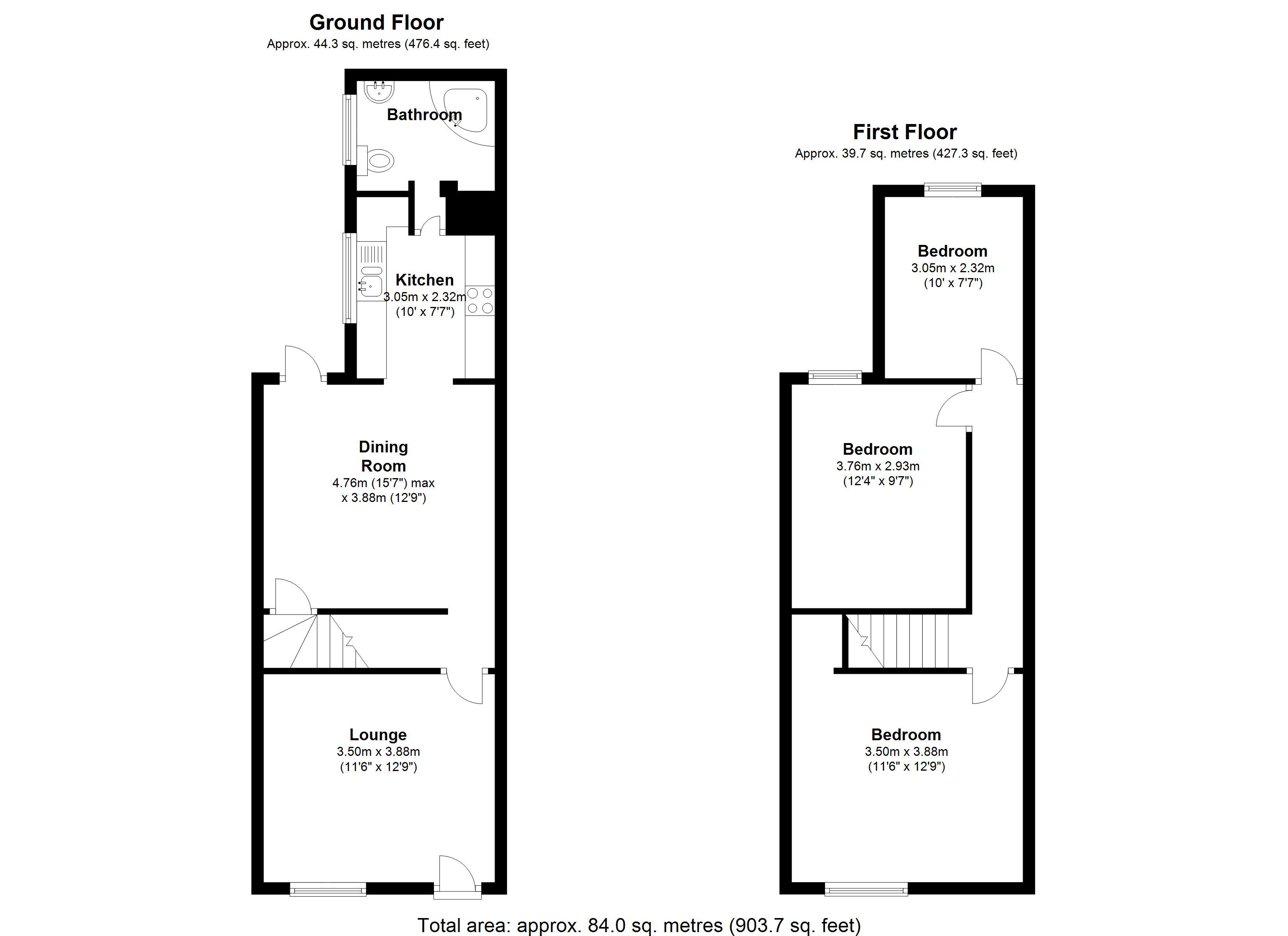 3 bedroom semi detached house for sale 45506846. Black Bedroom Furniture Sets. Home Design Ideas