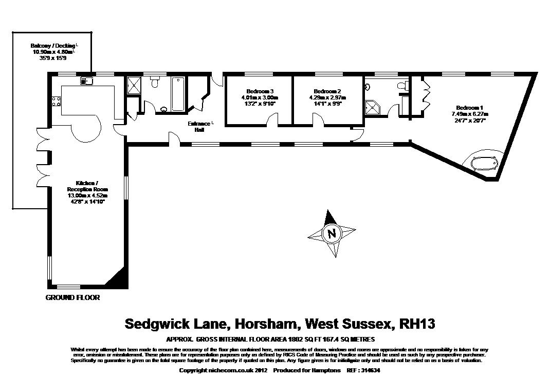 3 bed barn conversion to rent in sedgwick lane horsham for 16 brookers lane floor plans