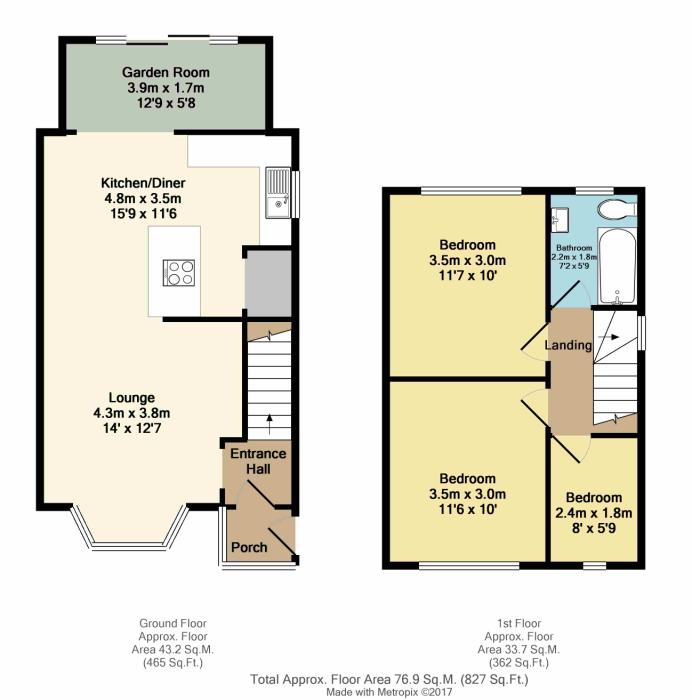 Briarfield crescent sheffield south yorkshire s12 3 for Sheffield floor plan