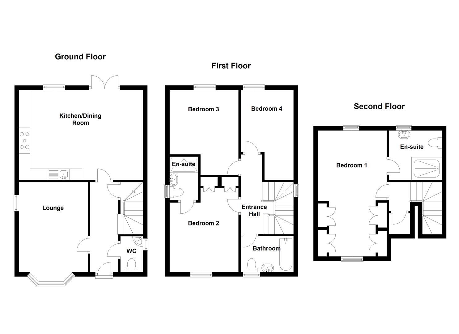 Templar road ashby de la zouch le65 4 bedroom detached for Ashby house plan