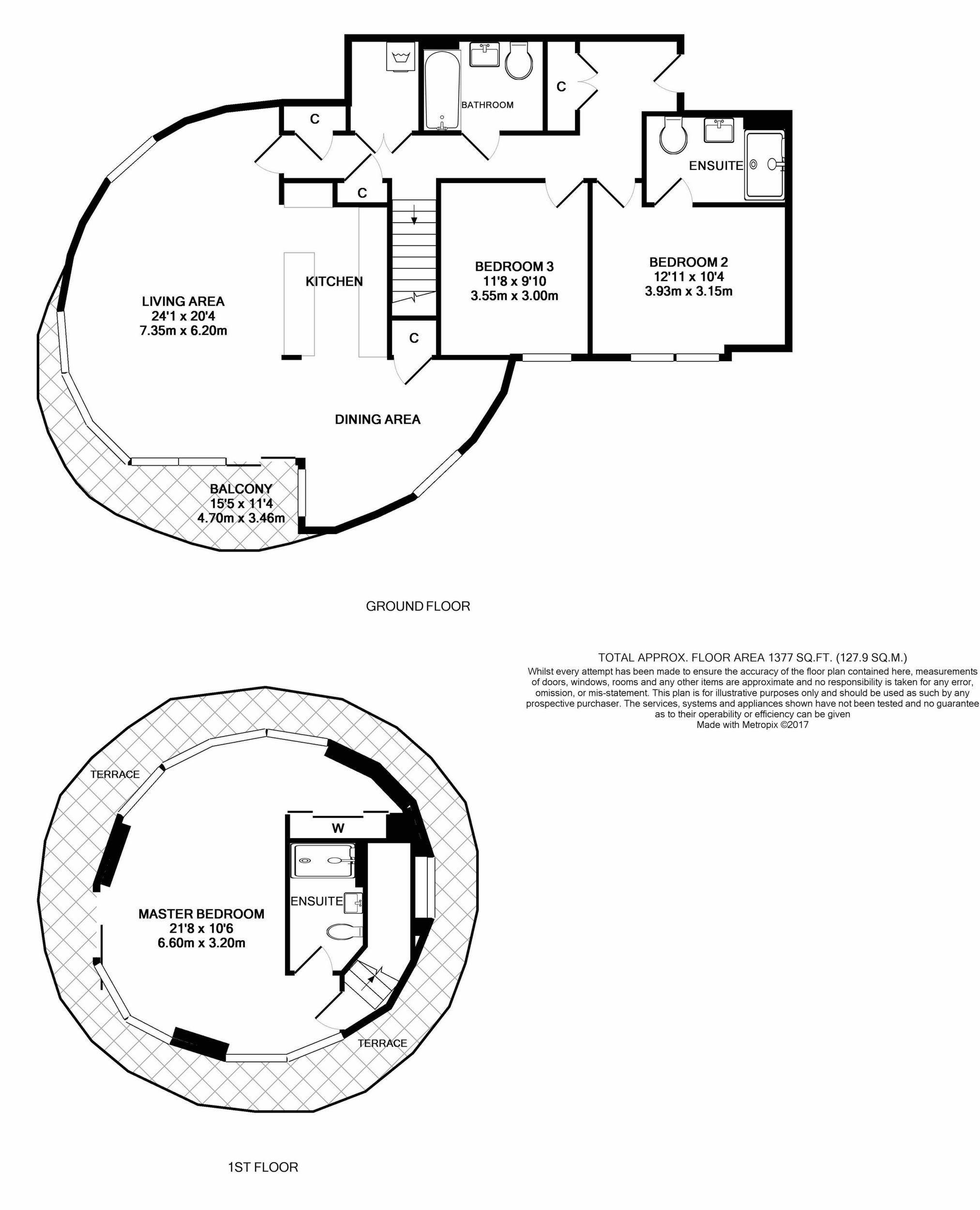 3 bedroom duplex for sale 44625798 primelocation for Up down duplex floor plans