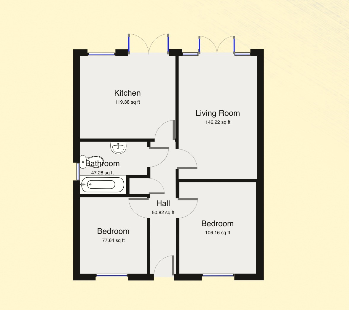 2 Bedroom Semi Detached Bungalow For Sale 45949623