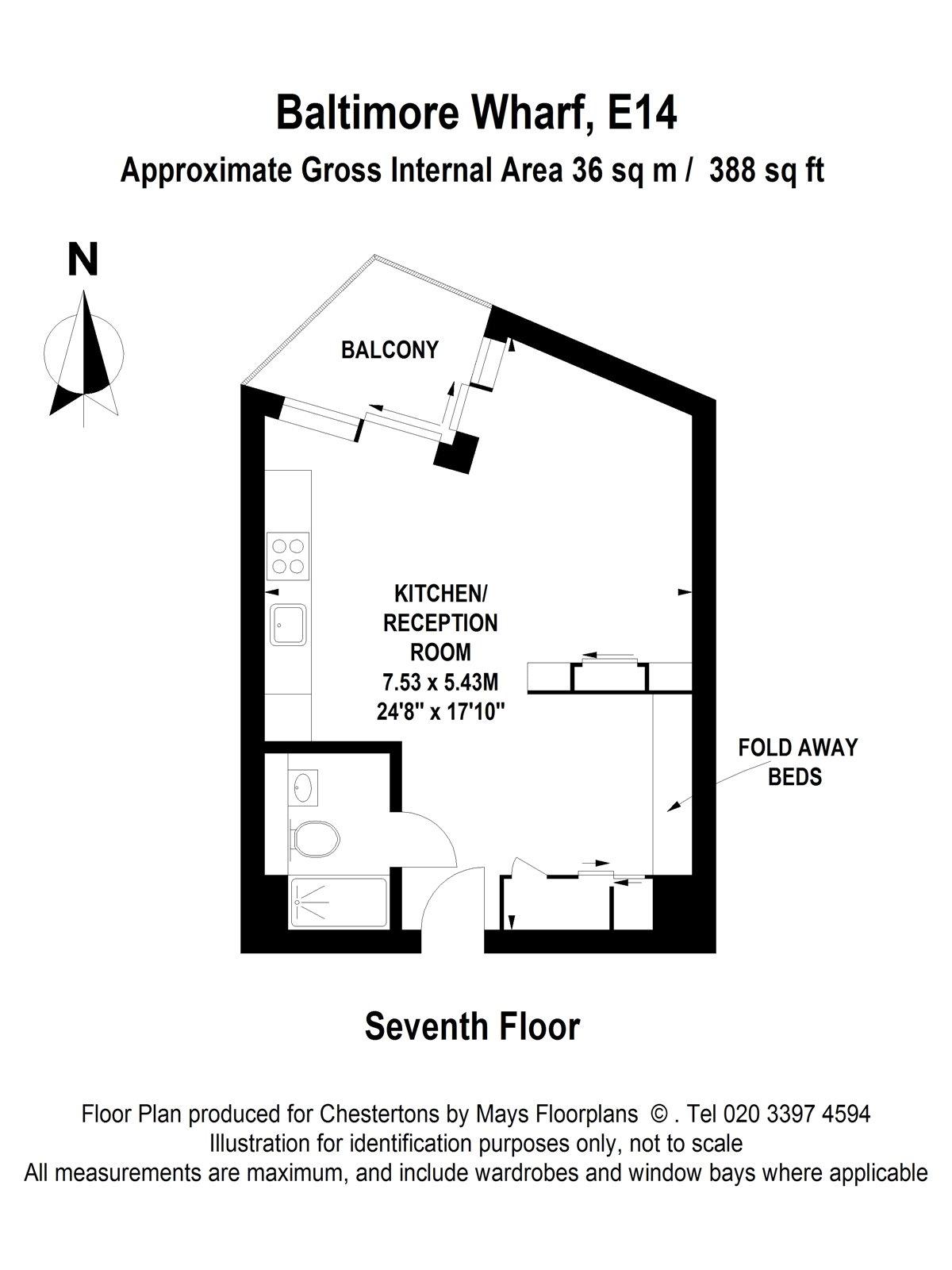 Studio to rent in Baltimore Wharf, London E14 - Zoopla