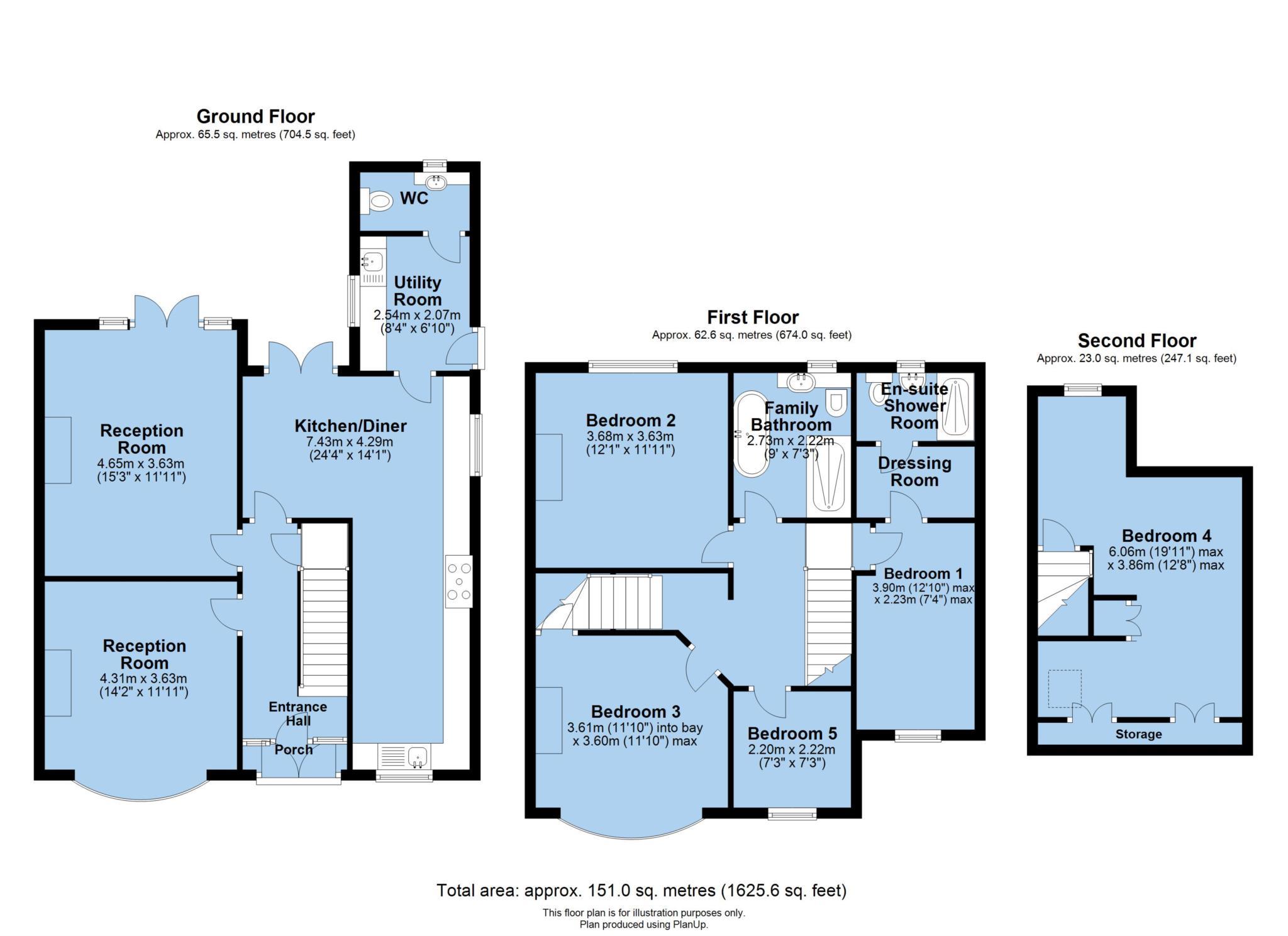 Plan Dressing En U lincoln road, nettleham, lincoln ln2, 5 bedroom semi