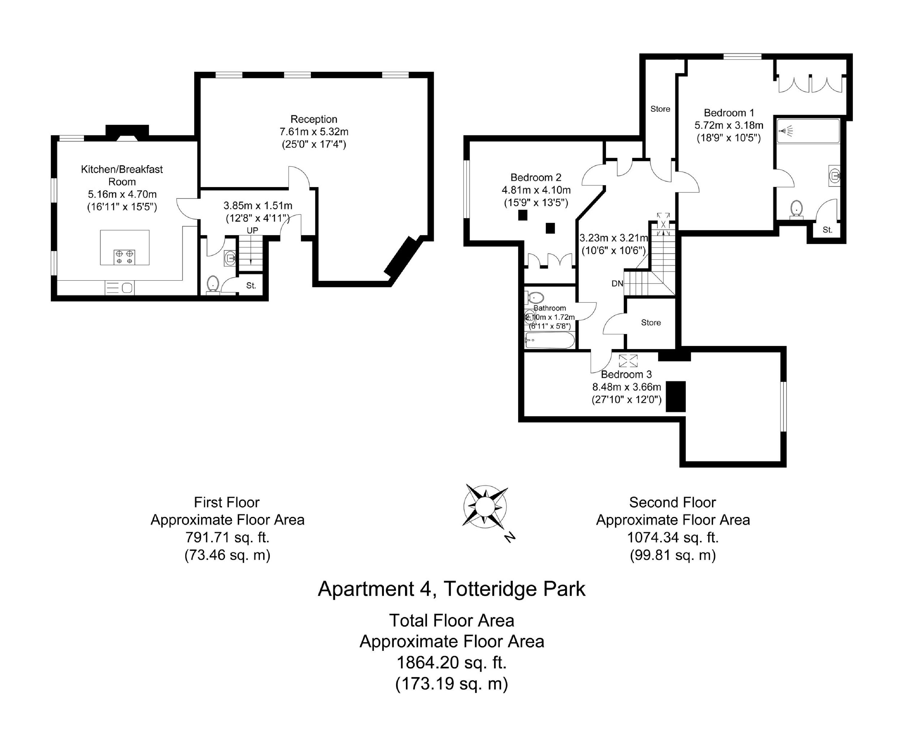 3 bedroom flat for sale in Totteridge Park, Totteridge Common