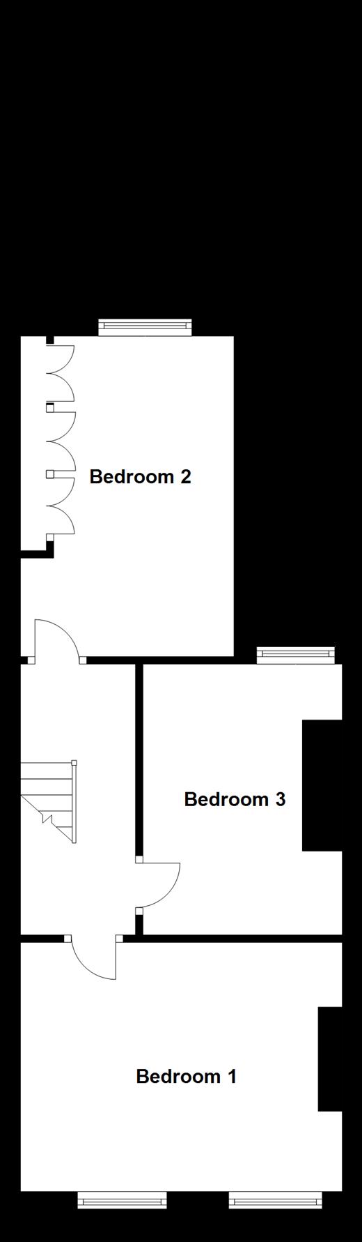 3 bedroom terraced house for sale 45110388 primelocation for 4 bedroom split level floor plans