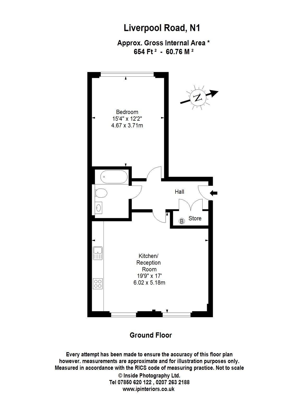 1 Bedrooms Flat to rent in Liverpool Road, Barnsbury N1