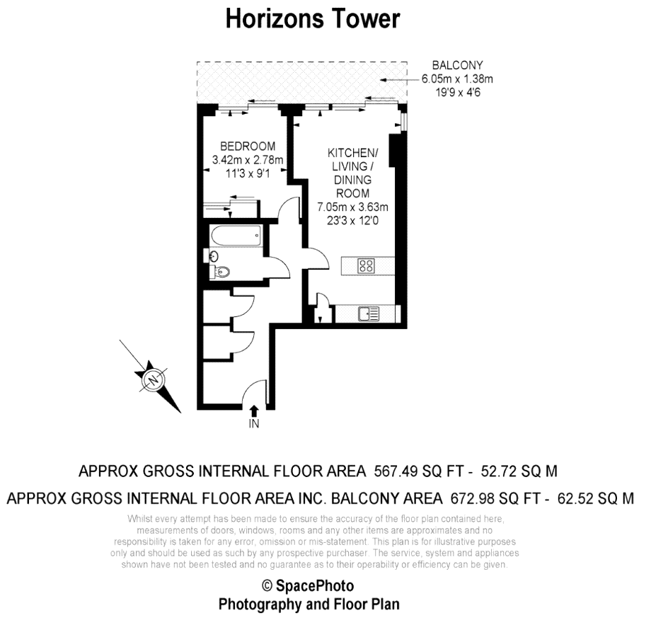1 Bedrooms Flat to rent in Horizons Tower, 1 Yabsley Street, Canary Wharf, London E14