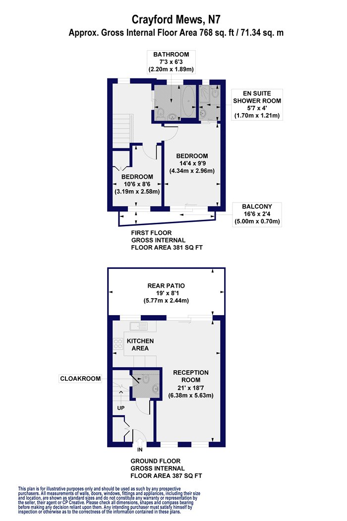 2 Bedrooms Terraced bungalow to rent in Crayford Mews, London N7