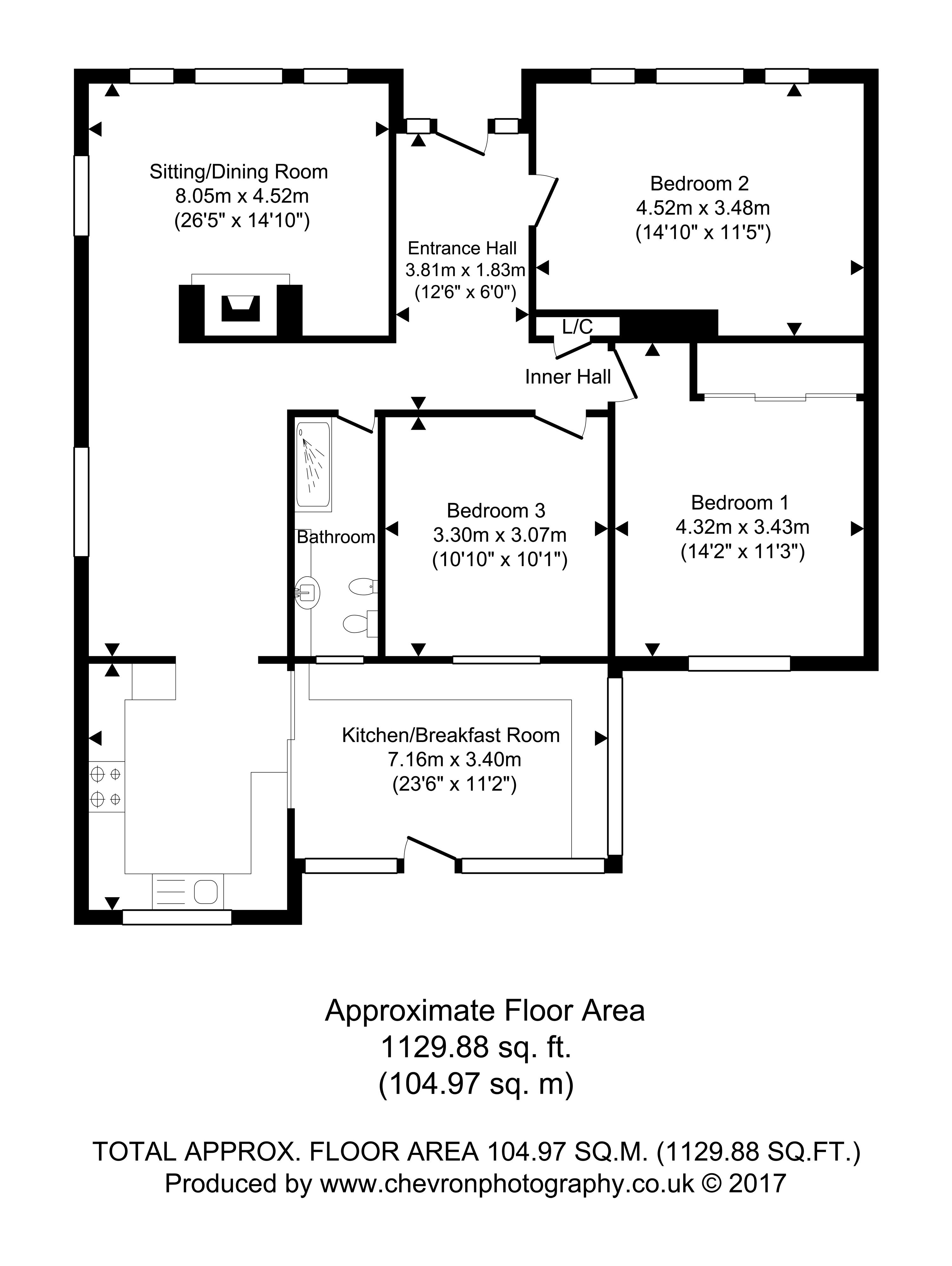 3 Bedroom Detached Bungalow For Sale 45778388