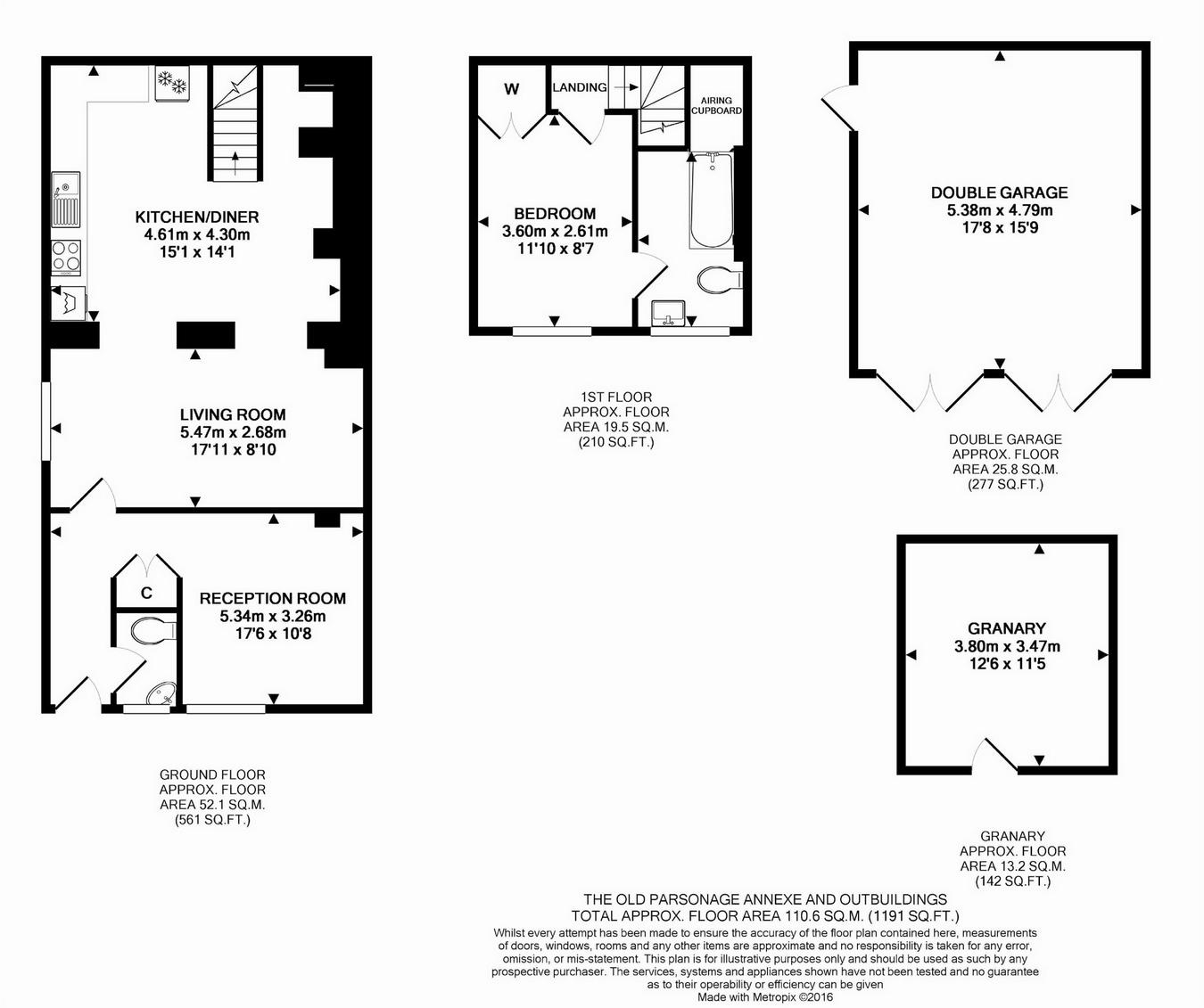 Old Westbury Gardens Floor Plan: The Old Parsonage, Vicarage Lane, Steeple Ashton