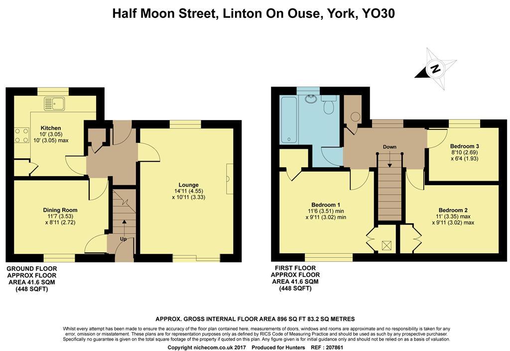 Half Moon Street Linton On Ouse York Yo30 3 Bedroom