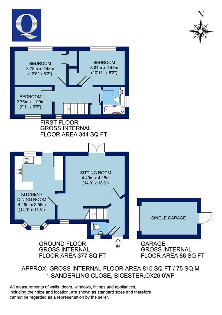 Sanderling Close, Bicester OX26, 3 bedroom semi-detached house for ...