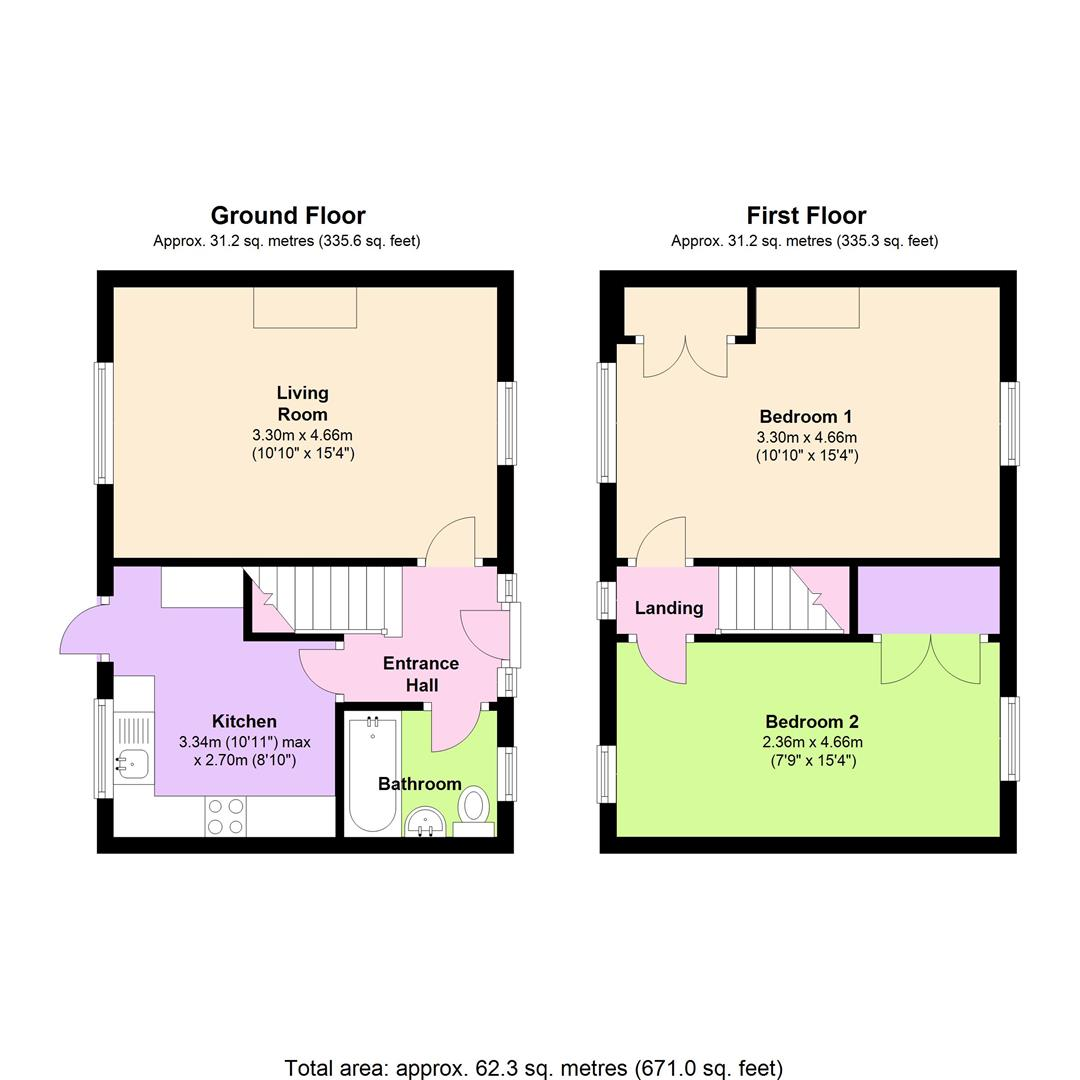 Stone street reading rg30 2 bedroom terraced house for for Reading a floor plan